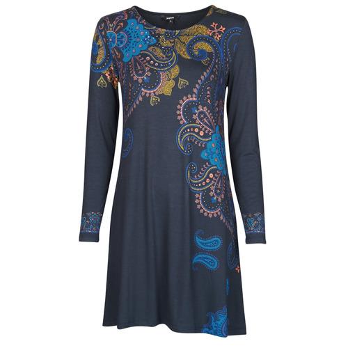 Clothing Women Short Dresses Desigual WASHINTONG Blue