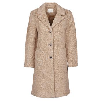 Clothing Women Coats Cream AMELIA COAT Beige