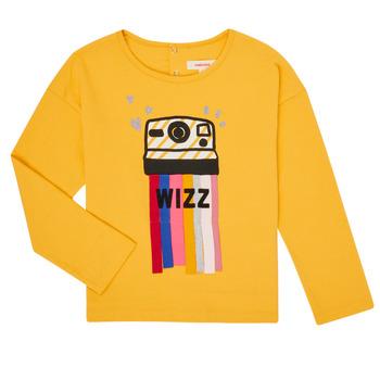 Clothing Girl Long sleeved tee-shirts Catimini CR10135-72-C Yellow