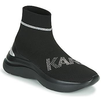 Shoes Women Hi top trainers Karl Lagerfeld SKYLINE KARL RHINESTONE PULL ON BT Black