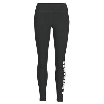 Clothing Women leggings Converse CONVERSE WOMENS WORDMARK LEGGING Black
