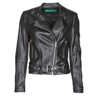 Clothing Women Leather jackets / Imitation leather Benetton 2ALB53673 Black
