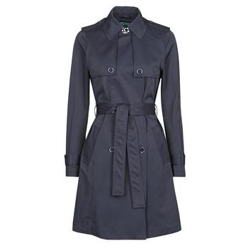 Clothing Women Trench coats Benetton 2BIM5K2S3 Marine
