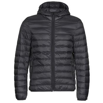 Clothing Men Duffel coats Benetton 2BA253EU8 Black