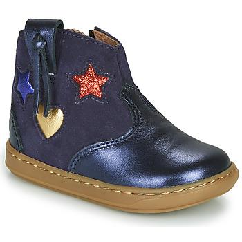 Shoes Girl Hi top trainers Shoo Pom BOUBA WEST Blue