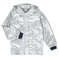 Clothing Girl Parkas Petit Bateau LAETICIA Silver