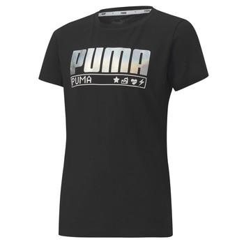 Clothing Girl Short-sleeved t-shirts Puma ALPHA TEE 165 Black