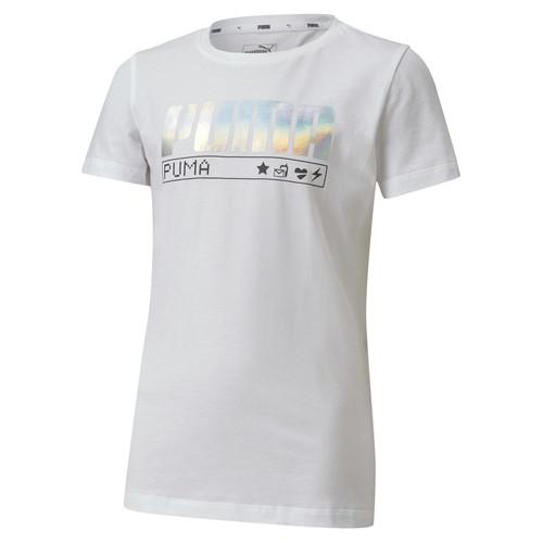 Clothing Girl Short-sleeved t-shirts Puma ALPHA TEE White