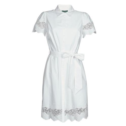 Clothing Women Short Dresses Lauren Ralph Lauren DORTHIA White