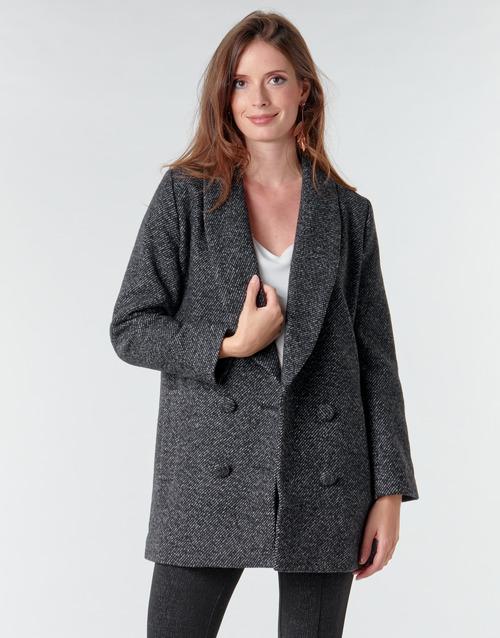 Clothing Women Coats Le Temps des Cerises DILAN1 Black