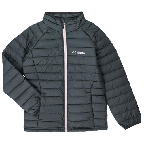 Clothing Girl Duffel coats Columbia POWDER LITE JACKET Black