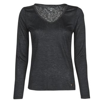 Clothing Women Long sleeved tee-shirts Les Petites Bombes ADRIANA Black