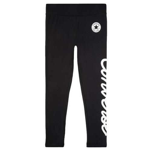 Clothing Girl Leggings Converse 469789 Black