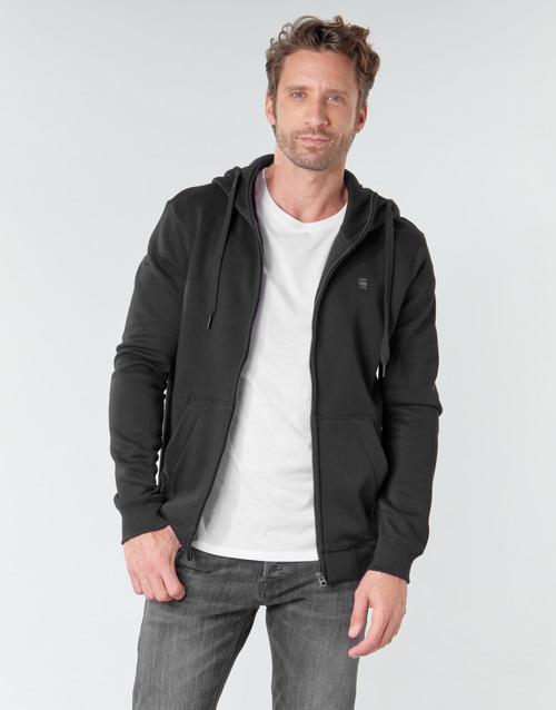Clothing Men Sweaters G-Star Raw PREMIUM CORE HDD ZIP SW LS Black