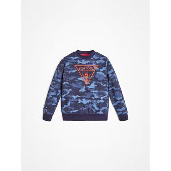 Clothing Boy Sweaters Guess L0YQ01-K82T0-PC74 Blue