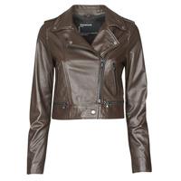 Clothing Women Leather jackets / Imitation leather Oakwood YOKO Brown