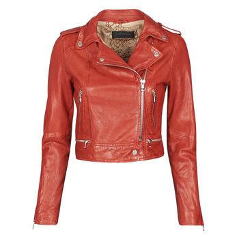 Clothing Women Leather jackets / Imitation leather Oakwood KYOTO Red