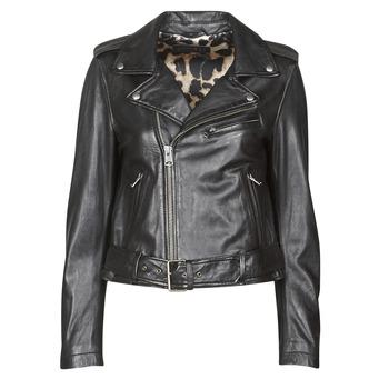 Clothing Women Leather jackets / Imitation leather Oakwood RADIO Black