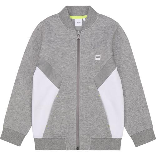 Clothing Boy Sweaters BOSS J25G80 Grey