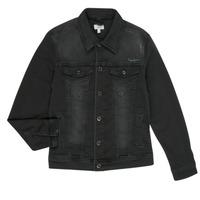 Clothing Boy Denim jackets Pepe jeans LEGENDARY Black