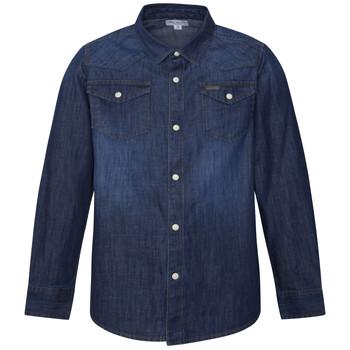 Clothing Boy Long-sleeved shirts Pepe jeans JHON Blue