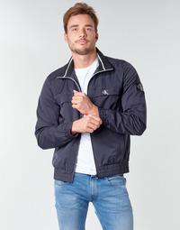 Clothing Men Jackets Calvin Klein Jeans ZIP UP HARRINGTON Marine