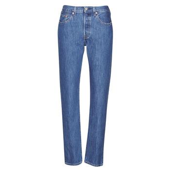 Clothing Women Boyfriend jeans Levi's 501 CROP Breeze / Stone