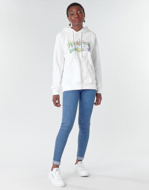 Clothing Women Skinny jeans Levi's 720 HIRISE SUPER SKINNY Blue