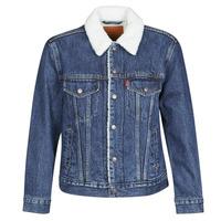 Clothing Women Denim jackets Levi's EX-BF SHERPA TRUCKER Blue