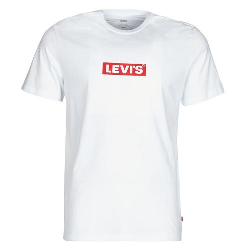 Clothing Men Short-sleeved t-shirts Levi's BOXTAB GRAPHIC TEE White