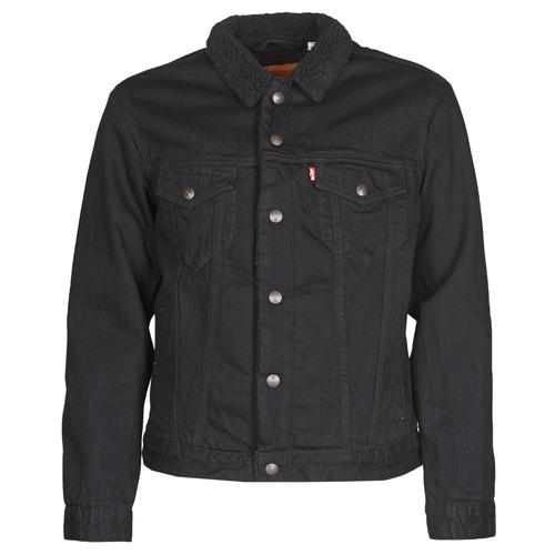 Clothing Men Denim jackets Levi's TYPE 3 SHERPA TRUCKER Black