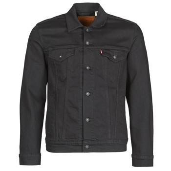 Clothing Men Denim jackets Levi's THE TRUCKER JACKET Black