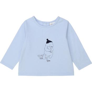 Clothing Boy Long sleeved tee-shirts Carrément Beau Y95249 Blue