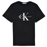 Clothing Children Short-sleeved t-shirts Calvin Klein Jeans MONOGRAM Black