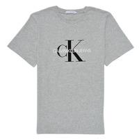 Clothing Children Short-sleeved t-shirts Calvin Klein Jeans MONOGRAM Grey