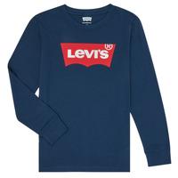Clothing Boy Long sleeved tee-shirts Levi's BATWING TEE LS Blue