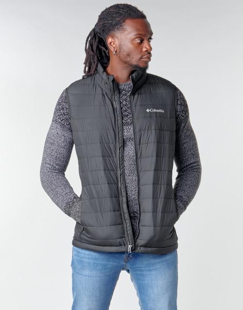 Clothing Men Duffel coats Columbia POWDER LITE VEST Black