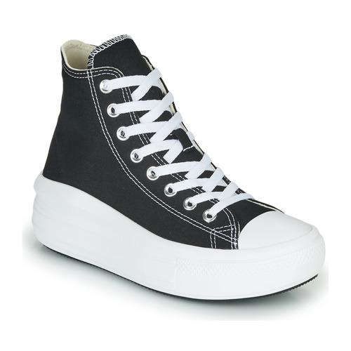 Shoes Women Hi top trainers Converse Chuck Taylor All Star Move Canvas Color Hi Black