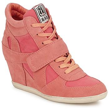 Shoes Women Hi top trainers Ash BOWIE Pink / Pastel