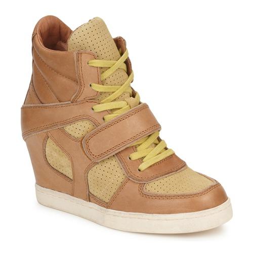 Shoes Women Hi top trainers Ash COCA Brown / Yellow