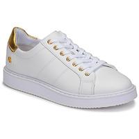 Shoes Women Low top trainers Lauren Ralph Lauren ANGELINE II White / Gold