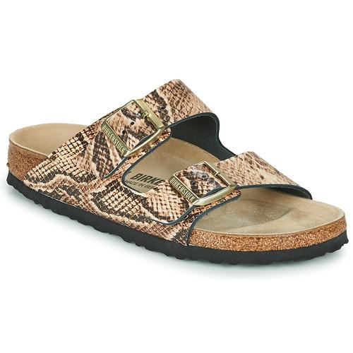 Shoes Women Mules Birkenstock ARIZONA Beige