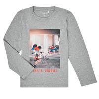 Clothing Boy Long sleeved tee-shirts Name it NMMMICKEY EMIL Grey