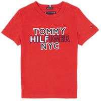 Clothing Boy short-sleeved t-shirts Tommy Hilfiger KB0KB05848-XNL Red