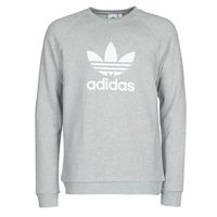 Clothing Men Sweaters adidas Originals TREFOIL CREW Grey