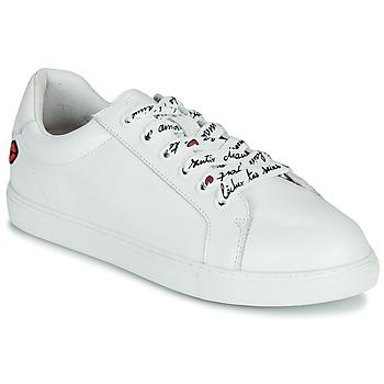 Shoes Women Low top trainers Bons baisers de Paname SIMONE IN LOVE LACETS White