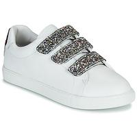 Shoes Women Low top trainers Bons baisers de Paname EDITH GLITTER TONGUE White