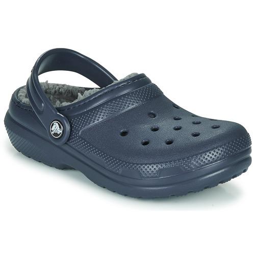 Shoes Boy Clogs Crocs CLASSIC LINED CLOG K Blue