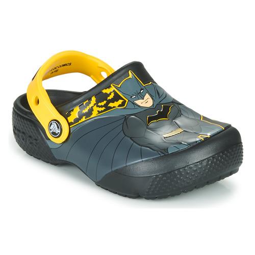 Shoes Boy Clogs Crocs CROCS FL ICONIC BATMAN CLOG  black / Yellow