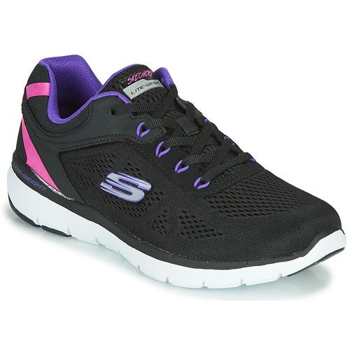 Shoes Women Low top trainers Skechers FLEX APPEAL 3.0 STEADY MOVE  black / Purple